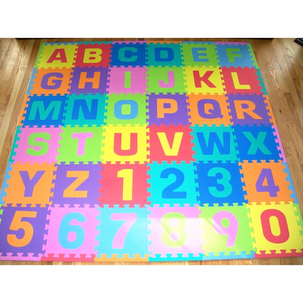 Puzzle Mat Letters Numbers 36-piece Foam Play Mat - Free Shipping On ...