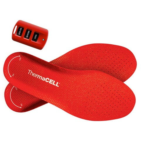 Thermacell Rechargable Heated Insole Foot Warmer with Car Charger