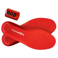 Thermacell Rechargeable Heated Insole Foot Warmer with Car Charger