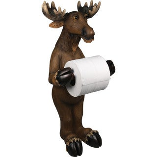 River's Edge Products Moose Standing Toilet Paper Holder