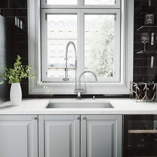 VIGO Ludlow Stainless Steel Kitchen Sink Set with Dresden Faucet