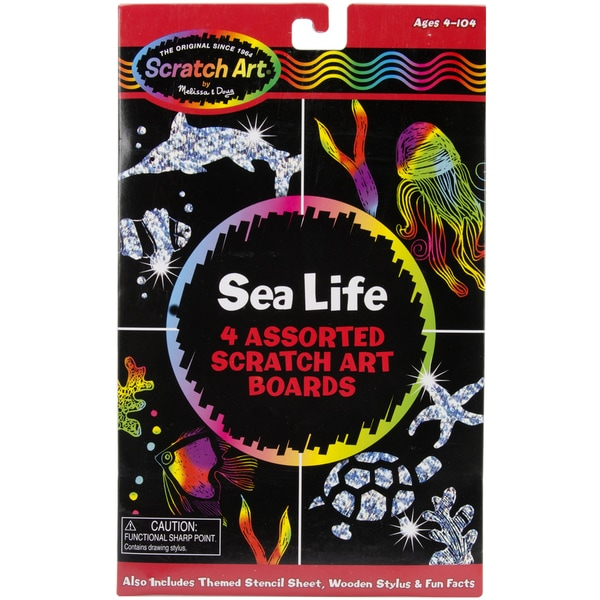 Melissa & Doug Sea Life Scratch Magic Art Board Set