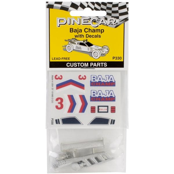 Woodland Scenics Baja Champ Pine Car Derby Custom Parts Set