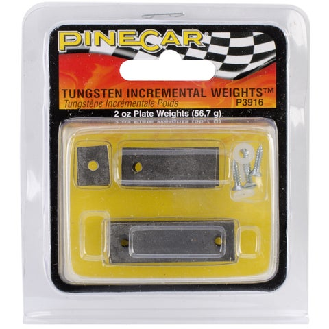 Woodland Scenics Pine Car Derby 2-ounce Tungsten Incremental Plate Weights