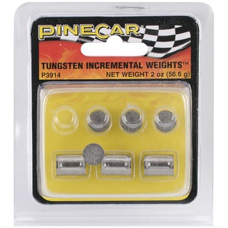 Pine Car Derby 2-ounce Tungsten Incremental Cylinder Weights