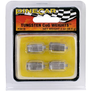 Pine Car Derby 2-ounce Tungsten Incremental Center-of-Gravity Weights
