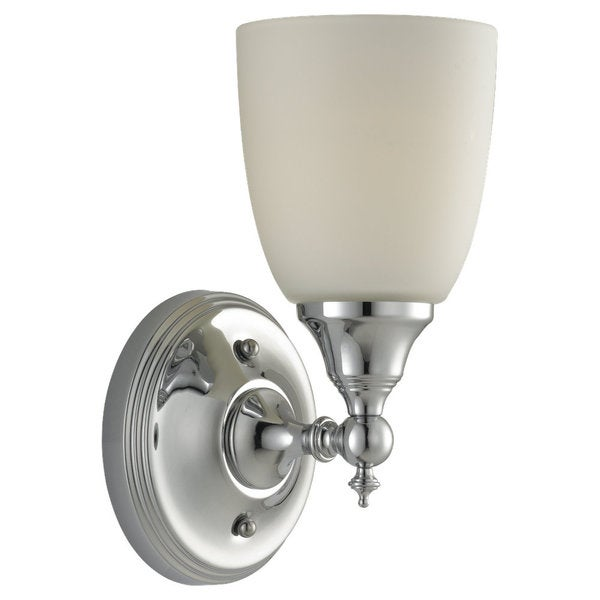 'Finitude' Chrome and Etched Glass 1-light Wall Sconce