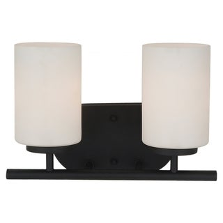 Sea Gull Lighting 2-light Wall/ Bath Blacksmith Finish Vanity Light