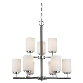 Sea Gull Lighting 9-light Chrome Finish Chandelier with Etched Opal White Glass