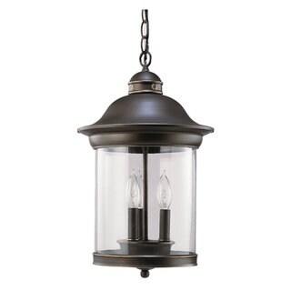 Sea Gull Lighting Hermitage 3-light Antique Bronze Outdoor Pendant