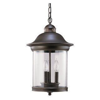 Sea Gull Lighting Hermitage 3-light Antique Bronze Outdoor Pendant