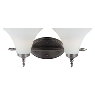 Sea Gull Lighting 2-light Antique Brushed Nickel Finish Wall/ Bath Light