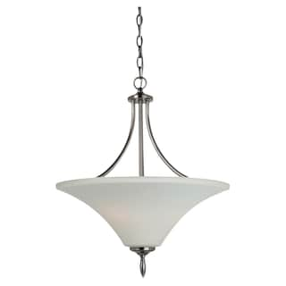 Sea Gull Lighting Three-light Antique Brushed Nickel Uplight Pendant