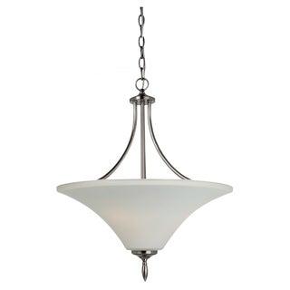 Sea Gull Lighting Three-light Antique Brushed Nickel Uplight Pendant