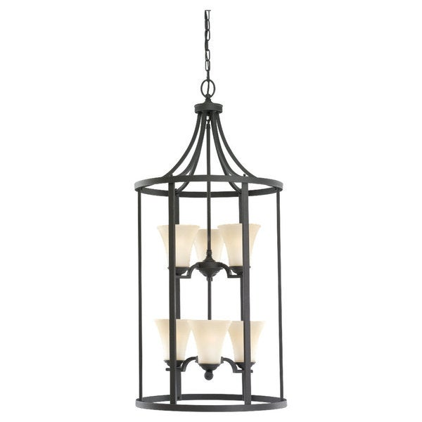 Foyer Lighting Overstock : Sea gull lighting six light hall foyer free shipping