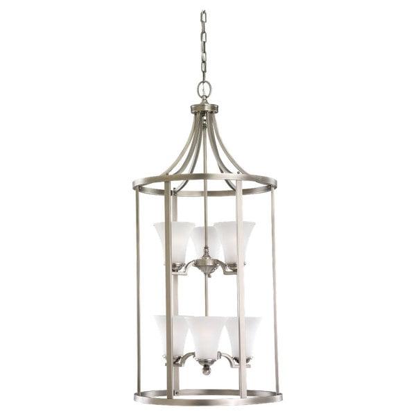 Foyer Lighting Overstock : Sea gull six light hall foyer free shipping today