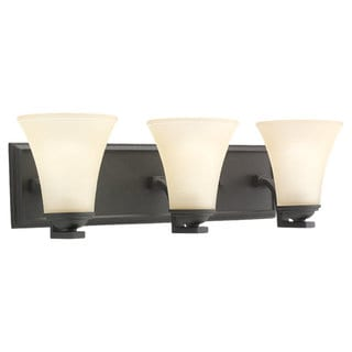 Sea Gull Lighting Somerton 3-light Blacksmith Bath Bar Vanity
