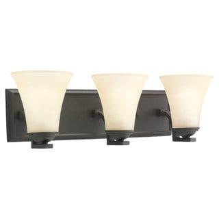 Sea Gull Lighting Somerton 3-light Blacksmith Bath Bar Vanity