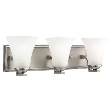 Buy bathroom light fixtures online at overstock our best bath sea gull lighting somerton 3 light antique brushed nickel bath bar vanity aloadofball Image collections