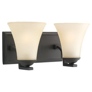 Sea Gull Lighting Somerton 2-light Blacksmith Bath Bar Vanity