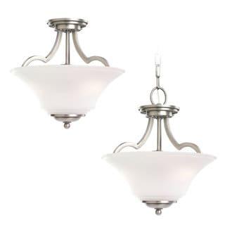 Sea Gull Lighting Somerton 2-light Antique Brushed Nickel Semi-flush Pendant