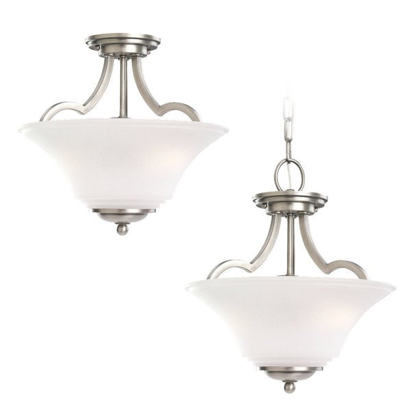 Sea Gull Lighting Somerton 2-light Antique Brushed Nickel Semi-flush Pendant