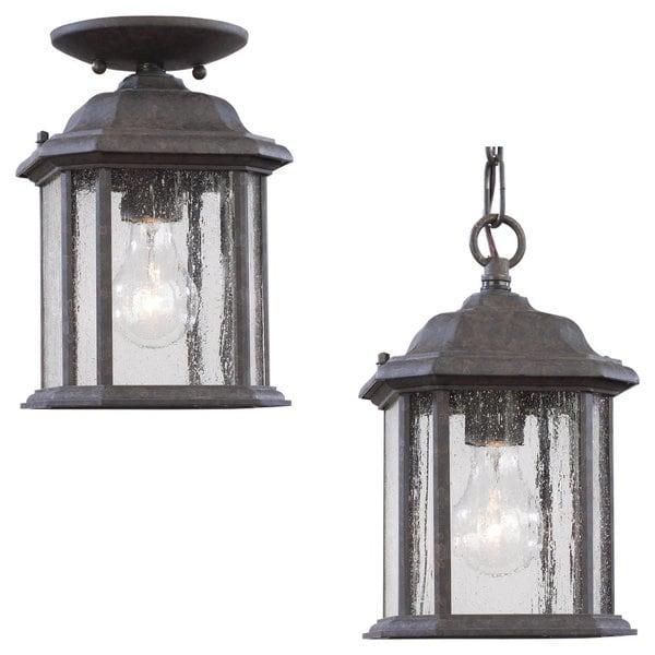 sea gull lighting kent 1light oxford bronze outdoor pendant - Sea Gull Lighting