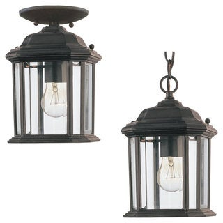 Sea Gull Lighting Kent 1-light Black Outdoor Pendant