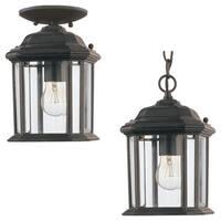 Sea Gull Lighting Kent 1-light Black Outdoor Pendant