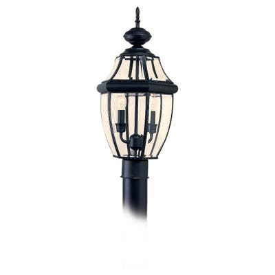 Sea Gull Lighting Lancaster 2-light Black Outdoor Post Lantern