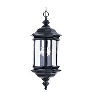 Sea Gull Lighting Hill Gate 3-light Black Outdoor Pendant