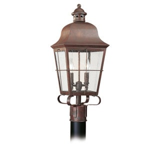 Sea Gull Lighting Chatham 2-light Weathered Copper Outdoor Post Lantern