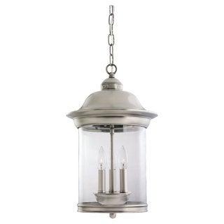 Sea Gull Lighting Hermitage 3-light Antique Brushed Nickel Outdoor Pendant