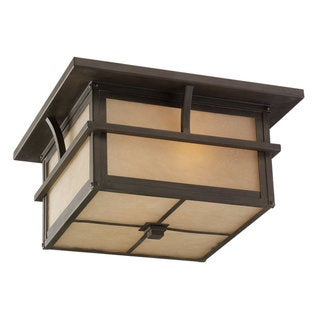 Sea Gull Lighting Medford Lakes 2-Light Close To Ceiling Outdoor Light
