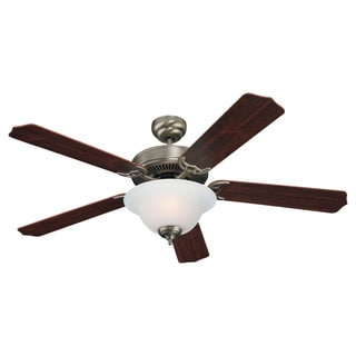 Sea Gull Lighting Quality Max Plus 52-inch Antique Brushed Nickel Ceiling Fan with Bowl Light