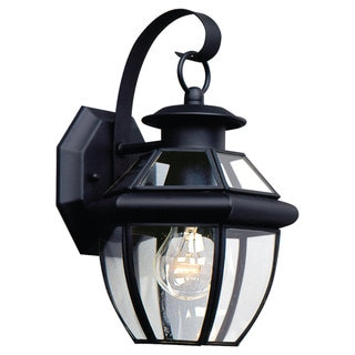 Sea Gull Lighting Lancaster 1-light Black Outdoor Wall Lantern