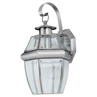 Sea Gull Lighting Lancaster 1-light Antique Brushed Nickel Outdoor Wall Lantern