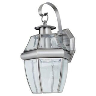 Sea Gull Lighting Lancaster 1-light Antique Brushed Nickel Outdoor Wall Lantern