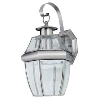 Sea Gull Lighting Lancaster 1 Light Antique Brushed Nickel Outdoor Wall Lantern