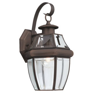Sea Gull Lighting Lancaster 1-light Bronze Outdoor Wall Lantern
