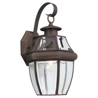 Sea Gull Lighting Lancaster 1-light Bronze Outdoor Wall Lantern (As Is Item)