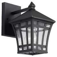 Sea Gull Lighting Herrington Black 1-light Outdoor Wall Lantern