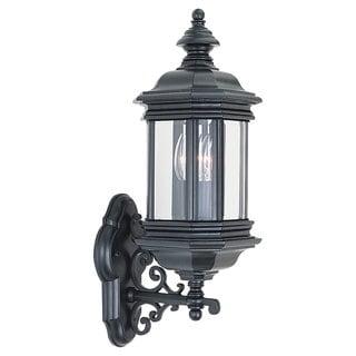 Sea Gull Lighting Hill Gate Black 2-light Outdoor Wall Lantern