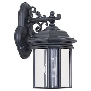 Sea Gull Lighting Hill Gate Black 1-light Outdoor Wall Lantern