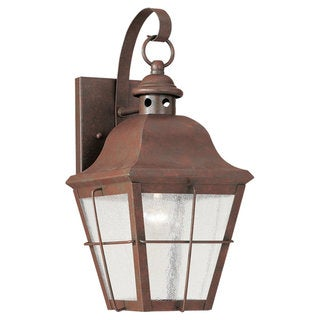 Sea Gull Lighting Chatham Weathered Copper 1-light Outdoor Wall Lantern