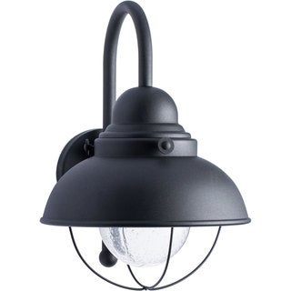 Sea Gull Lighting Sebring Black Outdoor Wall Lantern