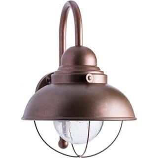Sea Gull Lighting Sebring Copper Outdoor Wall Lantern