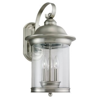 Sea Gull Lighting Hermitage 3-light Antique Brushed Nickel Outdoor Wall Lantern