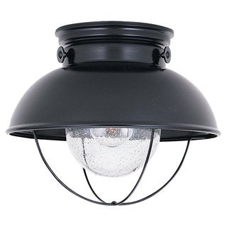 Sea Gull Lighting Sebring Black Outdoor Ceiling Fixture