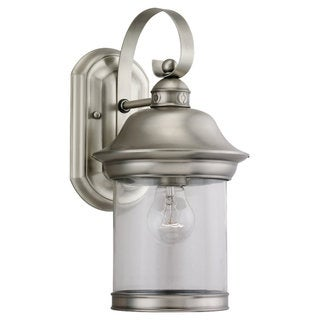 Sea Gull Lighting Hermitage Antique Brushed Nickel Outdoor Wall Lantern